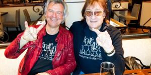 Anonyme Guitarholiker: Mit Maschine an seinem 72. Geburtstag am 18. März 2016 in Schwerin.