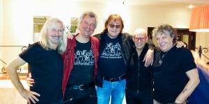 Rock-Legenden am 18. März 2016 in Schwerin: Bernd Römer, Pingo Schlüter, Maschine,  Fritz Puppel, Quaster.